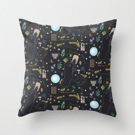 Tea Witch Starter Kit - Illustration Throw Pillow