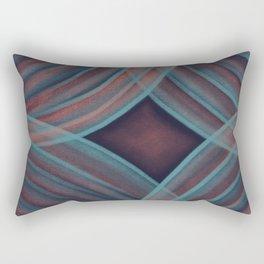 Teal and Rose Rings Rectangular Pillow