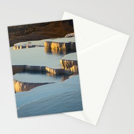 White rocks of Pamukkale Stationery Cards
