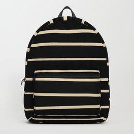 Valspar America Wood Yellow - Homey Cream - Glow Home Hand Drawn Horizontal Stripes on Black Backpack