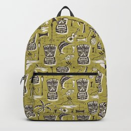 Tropical Tiki Green Backpack