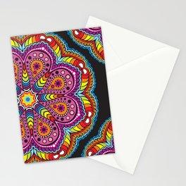 rastafarian mandala in rainbow colors Stationery Cards