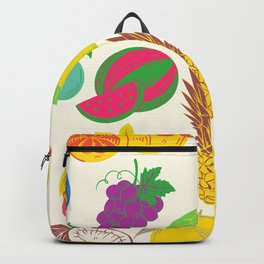 Fruit   White Background  Backpack