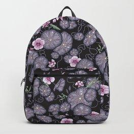 Black Indian cress garden. Backpack