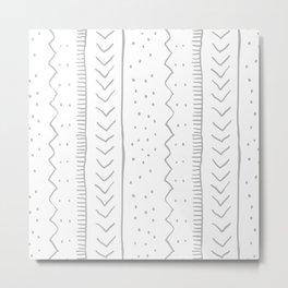 Moroccan Stripe in Grey Metal Print