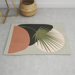 Tropical Leaf- Abstract Art 5 Rug