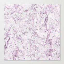 Elegant modern vintage white lilac violet marble Canvas Print