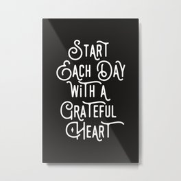 Grateful Heart Metal Print