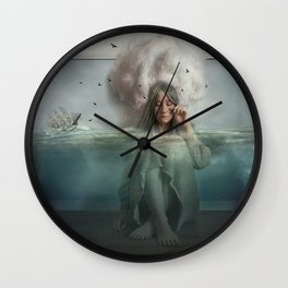 The Blue Girl Wall Clock
