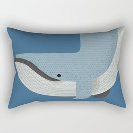Whimsy Blue Whale Rectangular Pillow