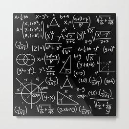 Do the Math Metal Print