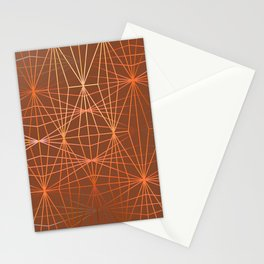 ELEGANT TERRACOTTA OCKER DIAMONDS Stationery Cards