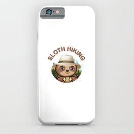 Sloth Hiking Team - Funny Walking, Tramping Tour Gift iPhone Case