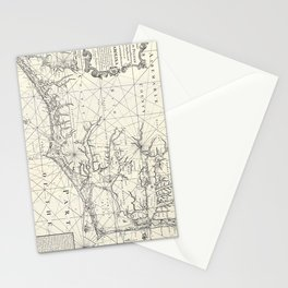 Vintage Map of Eastern North Carolina (1738) Stationery Cards