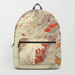 Vintage Scotland Geological Map (1865) Backpack