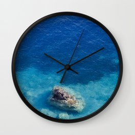 Sea with Clear Blue Waters Wall Clock