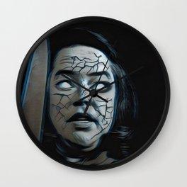 Misery Portrait Knife Haunt Demon Terrible Experience Wall Clock