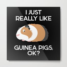 Really Like Guinea Pigs Rodent Metal Print