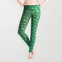 HIGH TYPO! Cannabis / Hemp / 420 / Marijuana  - Pattern Leggings