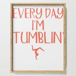 Gymnastics Every Day I'm Tumblin' Gymnastics Serving Tray