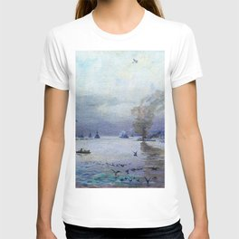 Sir John Lavery - The Fleet- a Misty Day - Digital Remastered Edition T-shirt