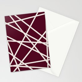 Maroon Line Stationery Cards