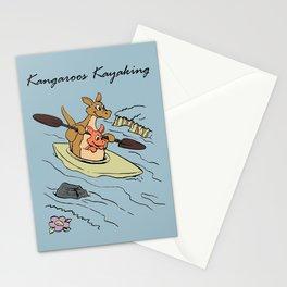 Kangaroo Boat Blue Stationery Cards