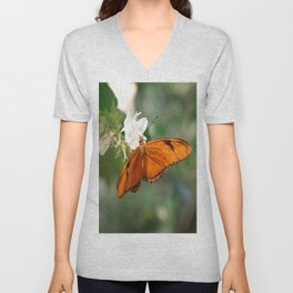 Julia Butterly Unisex V-Neck