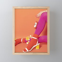Table Legs Framed Mini Art Print