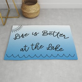 Life is Better at the Lake Rug