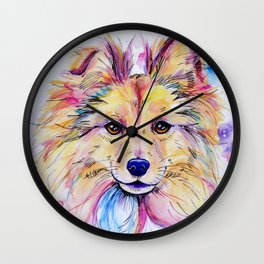 Sheltie Wall Clock