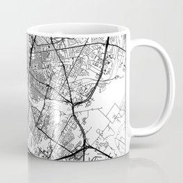 Austin, Texas Map Art (White) Coffee Mug