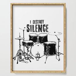 I Destroy Silence Serving Tray