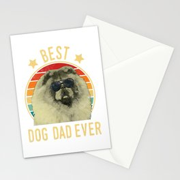 Mens Best Dog Dad Ever Chow Chow Father's Day Stationery Cards