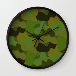 Camo-licious Collection: Gorgeous Green Camouflage Pattern Wall Clock