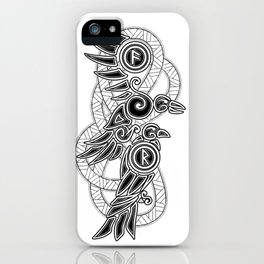 Odin's Ravens: Hugin & Munin iPhone Case