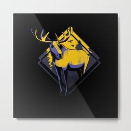Moose Design Metal Print