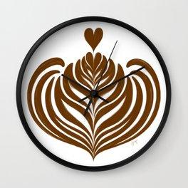 Latte Rosetta Wall Clock
