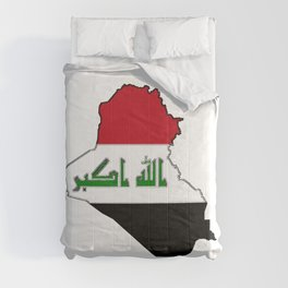 Iraq Map with Iraqi Flag Comforters