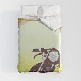Vintage bike sunset Duvet Cover