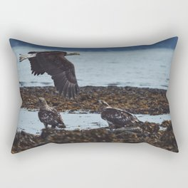 Where The Eagles Fly Rectangular Pillow