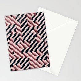 Pink Maze Stationery Cards