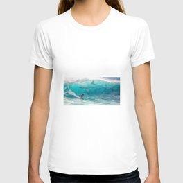 Surfing with a Giant Shark T-shirt