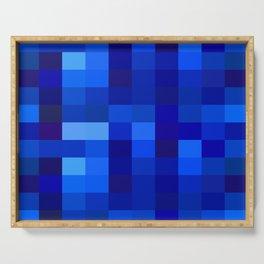 Blue Mosaic Serving Tray