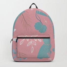 Winter time pink illustration  Backpack