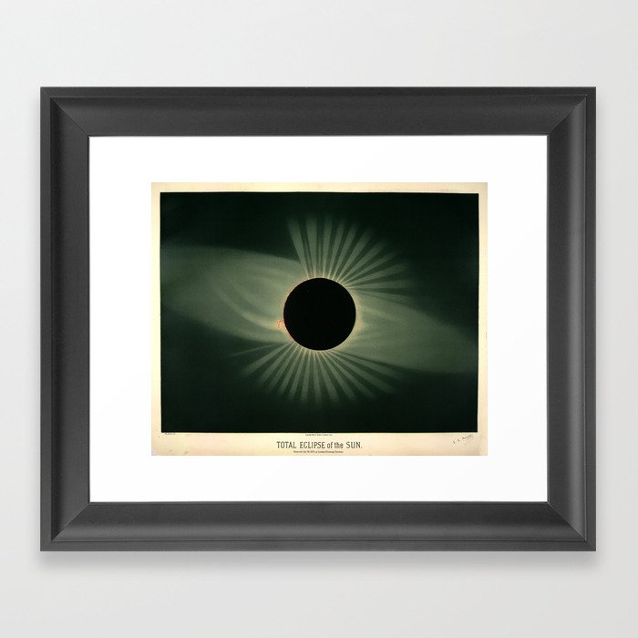 Total solar eclipse by Étienne Léopold Trouvelot (1878) Gerahmter Kunstdruck