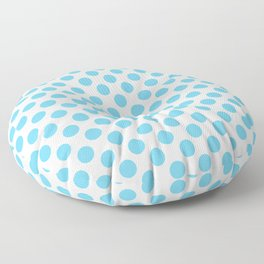 Light Blue Polka Dots Pattern Floor Pillow