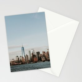 Skyline Upper Bay Sunset | Colourful Travel Photography | New York City, America (USA) Stationery Cards