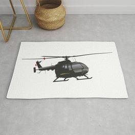 Black German Helicopter Rug