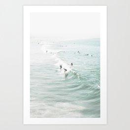 Surfer Waves Costal Ocean Art Print